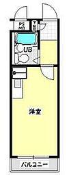 JR青梅線 青梅駅 徒歩8分の賃貸マンション 1階ワンルームの間取り