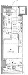 JR山手線 新橋駅 徒歩6分の賃貸マンション 4階1Kの間取り