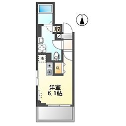京急本線 雑色駅 徒歩10分の賃貸マンション 2階ワンルームの間取り
