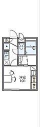 JR川越線 笠幡駅 徒歩3分の賃貸アパート 1階1Kの間取り