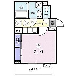名古屋市営名城線 ナゴヤドーム前矢田駅 徒歩1分の賃貸アパート 2階1Kの間取り