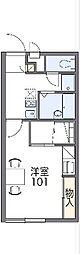 JR両毛線 桐生駅 徒歩29分の賃貸アパート 1階1Kの間取り