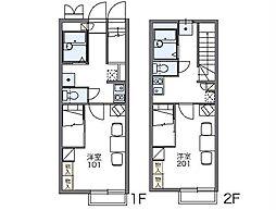 JR両毛線 岩宿駅 徒歩23分の賃貸アパート 1階1Kの間取り
