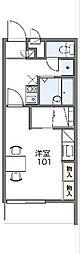JR両毛線 前橋駅 バス25分 龍蔵寺町下車 徒歩6分の賃貸マンション 3階1Kの間取り
