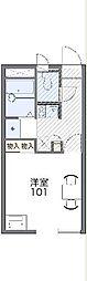 JR川越線 笠幡駅 徒歩7分の賃貸アパート 2階1Kの間取り