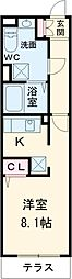 東急東横線 中目黒駅 徒歩2分の賃貸マンション 1階1Kの間取り