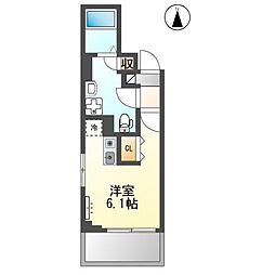 京急本線 雑色駅 徒歩10分の賃貸マンション 3階ワンルームの間取り