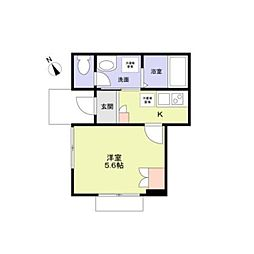 Monte Zoshigaya 1階1Kの間取り
