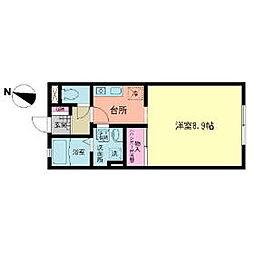 JR横浜線 十日市場駅 バス5分 中丸入口下車 徒歩3分の賃貸アパート 1階1Kの間取り