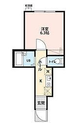 KTS笹塚 1階1Kの間取り