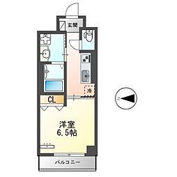 都営大江戸線 蔵前駅 徒歩9分の賃貸マンション 6階1Kの間取り