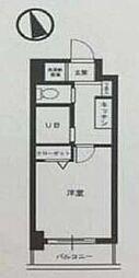 都営三田線 三田駅 徒歩7分の賃貸マンション 7階1Kの間取り