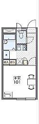 JR武豊線 半田駅 徒歩8分の賃貸アパート 2階1Kの間取り