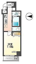 東武伊勢崎線 梅島駅 徒歩14分の賃貸マンション 2階1Kの間取り