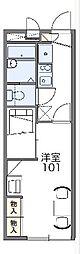 名鉄名古屋本線 中京競馬場前駅 徒歩11分の賃貸アパート 2階1Kの間取り