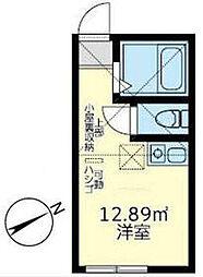 ユナイト八景トリパティーの杜 1階ワンルームの間取り