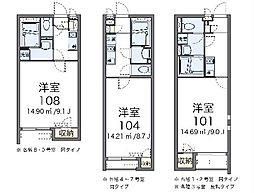 JR東北本線 蓮田駅 徒歩18分の賃貸アパート 1階1Kの間取り