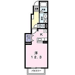 湘南新宿ライン高海 北鴻巣駅 徒歩3分の賃貸アパート 1階1Kの間取り