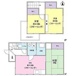 京急本線 上大岡駅 バス13分 芹が谷山谷下車 徒歩5分の賃貸一戸建て 1階3DKの間取り