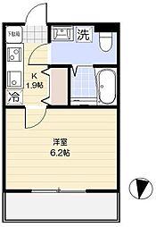京成本線 堀切菖蒲園駅 徒歩6分の賃貸アパート 1階1Kの間取り