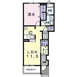 名古屋市営東山線 本山駅 徒歩9分の賃貸アパート 1階1LDKの間取り