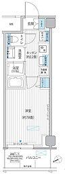都営浅草線 浅草橋駅 徒歩1分の賃貸マンション 9階1Kの間取り