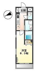 東急大井町線 北千束駅 徒歩2分の賃貸マンション 1階1Kの間取り