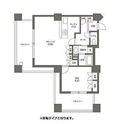 都営三田線 千石駅 徒歩4分の賃貸マンション 19階1LDKの間取り