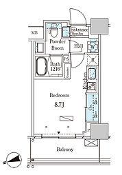 JR山手線 大塚駅 徒歩2分の賃貸マンション 12階ワンルームの間取り