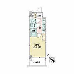 JR中央本線 鶴舞駅 徒歩2分の賃貸マンション 13階1Kの間取り