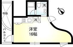 東京メトロ有楽町線 月島駅 徒歩4分の賃貸マンション 6階ワンルームの間取り