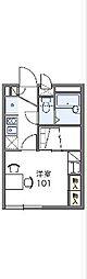 JR東北本線 東鷲宮駅 徒歩20分の賃貸アパート 1階1Kの間取り