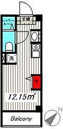 JR京浜東北・根岸線 大井町駅 徒歩5分の賃貸マンション 1階ワンルームの間取り