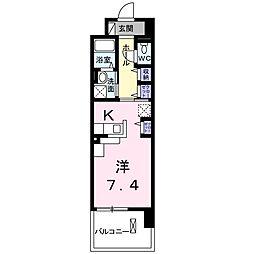 JR東北本線 新白岡駅 徒歩5分の賃貸マンション 4階1Kの間取り