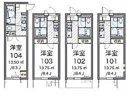 JR東北本線 白岡駅 徒歩11分の賃貸マンション 1階1Kの間取り