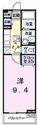 JR常磐線 荒川沖駅 バス24分 阿見中央下車 徒歩6分の賃貸アパート 1階1Kの間取り