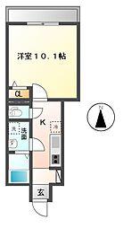 JR常磐線 神立駅 徒歩21分の賃貸アパート 1階1Kの間取り