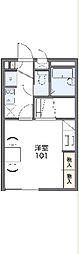JR山陰本線 亀岡駅 徒歩18分の賃貸アパート 1階1Kの間取り