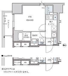 名古屋市営東山線 新栄町駅 徒歩8分の賃貸マンション 5階1Kの間取り