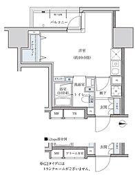 パークアクシス新栄 14階ワンルームの間取り