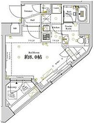 JR京葉線 潮見駅 徒歩6分の賃貸マンション 3階1Kの間取り