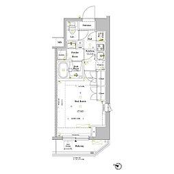 JR山手線 巣鴨駅 徒歩5分の賃貸マンション 2階1Kの間取り