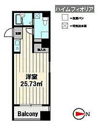 Osaka Metro御堂筋線 東三国駅 徒歩2分の賃貸マンション 6階1Kの間取り