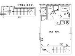 JR常磐線 亀有駅 徒歩7分の賃貸アパート 2階ワンルームの間取り