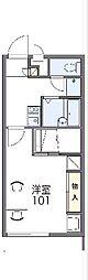 JR高崎線 新町駅 徒歩21分の賃貸アパート 2階1Kの間取り