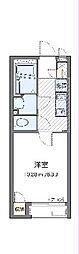 都営新宿線 船堀駅 徒歩15分の賃貸アパート 1階1Kの間取り