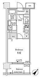 東京メトロ有楽町線 豊洲駅 徒歩12分の賃貸マンション 8階1Kの間取り
