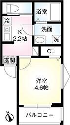東武伊勢崎線 東向島駅 徒歩9分の賃貸アパート 1階1Kの間取り