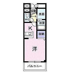小田急小田原線 相模大野駅 バス13分 麻溝台高校下車 徒歩2分の賃貸マンション 1階1Kの間取り