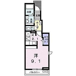 JR高崎線 本庄駅 徒歩18分の賃貸アパート 1階1Kの間取り
